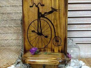 Декорируем ключницу: обжиг и вживление в морилку. Ярмарка Мастеров - ручная работа, handmade.