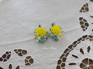 Новые серьги с розами и нарциссами. Ярмарка Мастеров - ручная работа, handmade.