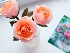 Мастерим голландские розы из гофрированной бумаги. Ярмарка Мастеров - ручная работа, handmade.