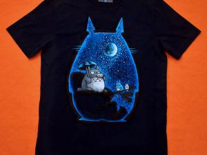 Немного про любовь к анимации и роспись футболочки с Тоторо :). Ярмарка Мастеров - ручная работа, handmade.