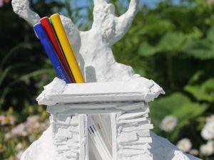 Мастерим из картона и бумаги карандашницу в виде хижины. Ярмарка Мастеров - ручная работа, handmade.