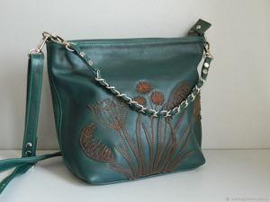 Аукцион на кожаную сумку старт 1500р. Ярмарка Мастеров - ручная работа, handmade.