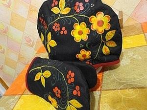 Шьем и расписываем грелку для чайника и кухонную варежку. Ярмарка Мастеров - ручная работа, handmade.
