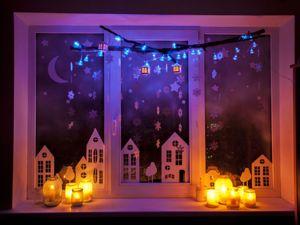 Как красиво украсить окно к Новому году. Ярмарка Мастеров - ручная работа, handmade.