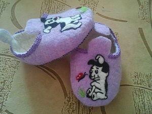 Детские тапочки часть-2. Ярмарка Мастеров - ручная работа, handmade.
