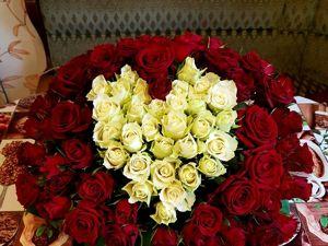 Корзина 115 роз. Ярмарка Мастеров - ручная работа, handmade.