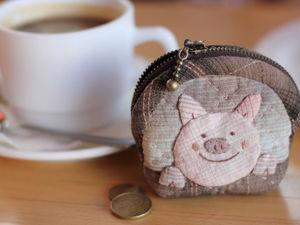 Шьем японскую монетницу «Озорная свинка». Ярмарка Мастеров - ручная работа, handmade.