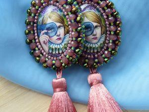 Серьги  «Леди в маске »  Видео. Ярмарка Мастеров - ручная работа, handmade.