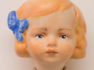 Расписываем голову фарфоровой куклы акрилом и пастелью. Ярмарка Мастеров - ручная работа, handmade.