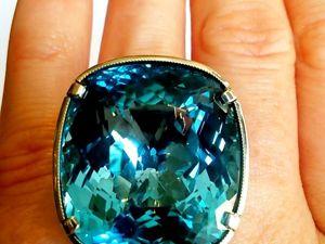 Видео кольца «Evening Star» c топазом london blue.Авторская огранка камня. Ярмарка Мастеров - ручная работа, handmade.