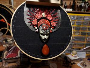 Санта Муэрте, процесс работы. Ярмарка Мастеров - ручная работа, handmade.