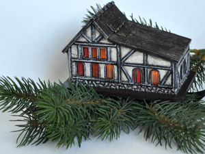 "How to Make an Unusual ""House with a Secret"" Christmas Decoration. Livemaster - handmade"