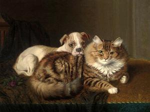 Кошки в работах Горацио Генри Коулдри. Ярмарка Мастеров - ручная работа, handmade.
