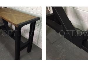 Стол из массива дуба и двутавров. Ярмарка Мастеров - ручная работа, handmade.