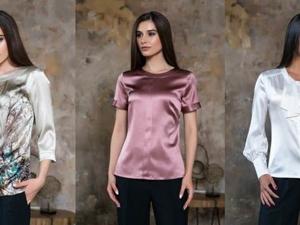 Шелковые блузки, топы, платья с большой скидкой!. Ярмарка Мастеров - ручная работа, handmade.