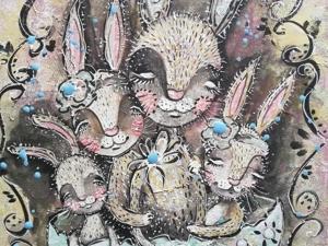 Аукцион на картину с Кроликами!. Ярмарка Мастеров - ручная работа, handmade.
