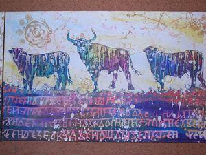 Создаем триптих «Велес». Ярмарка Мастеров - ручная работа, handmade.