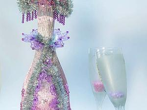 «Снегурочка»: новогоднее оформление бутылки в русском стиле. Ярмарка Мастеров - ручная работа, handmade.