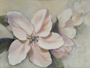 Рисуем интерьерную картину Цветы Яблони. Ярмарка Мастеров - ручная работа, handmade.