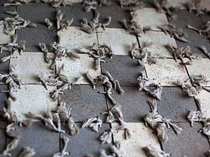 How to Make a Rug of Remains of Laminate and Cord. Livemaster - handmade