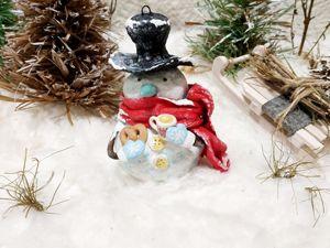 Дополнительные фото снеговика с чаем. Ярмарка Мастеров - ручная работа, handmade.