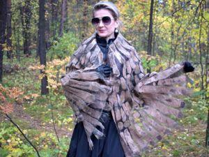 Валяные шали, крылья птиц, перышки. Ярмарка Мастеров - ручная работа, handmade.