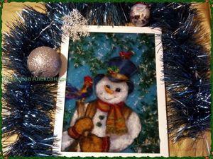 Рисуем шерстью картину по мотивам советской открытки. Часть 2. Ярмарка Мастеров - ручная работа, handmade.