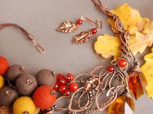 Осень — время контрастов! Совмещаем несовместимое в необычном украшении «Осеннее настроение». Ярмарка Мастеров - ручная работа, handmade.