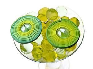 Серьги-круги из термопластики со стеклянной вставкой. Ярмарка Мастеров - ручная работа, handmade.
