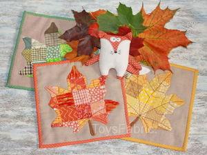 Шьем кленовые листья в технике пэчворк для уютных семейных вечеров. Ярмарка Мастеров - ручная работа, handmade.
