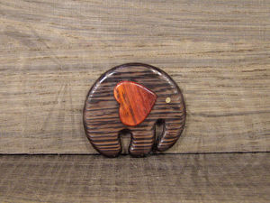 Making a Cute Brooch  «Elephant in Love». Livemaster - handmade