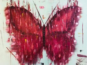 Пишем бабочку маслом. Видео мастер-класс. Ярмарка Мастеров - ручная работа, handmade.