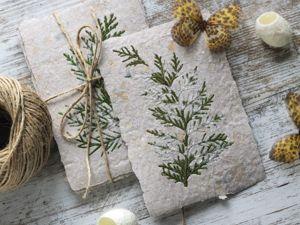 Создаем открытку из макулатуры с ботаникой. Ярмарка Мастеров - ручная работа, handmade.