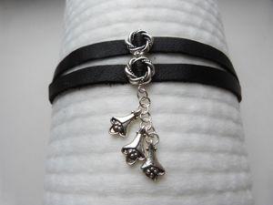 Делаем простой кожаный браслет с подвеской. Ярмарка Мастеров - ручная работа, handmade.