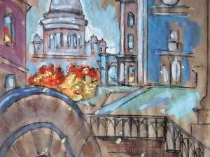Графика, Осенний мост, формат А4. Ярмарка Мастеров - ручная работа, handmade.