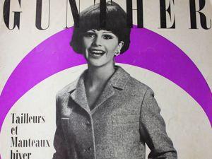 Gunther  -старый журнал мод- Kостюмы и пальто -Зима 1968. Ярмарка Мастеров - ручная работа, handmade.