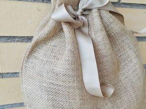 Делаем упаковку из мешковины: идеально для деревянных изделий. Ярмарка Мастеров - ручная работа, handmade.
