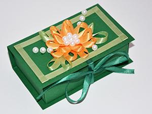 Мастерим коробочку-шкатулку для подарка. Ярмарка Мастеров - ручная работа, handmade.