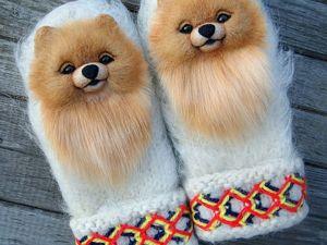 Новые коллекции! Звероварежки, скандинавские шерстяные варежки с забавными мордашками. Ярмарка Мастеров - ручная работа, handmade.