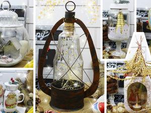 Идеи новогоднего декора из стеклянных банок и бутылок своими руками. Ярмарка Мастеров - ручная работа, handmade.