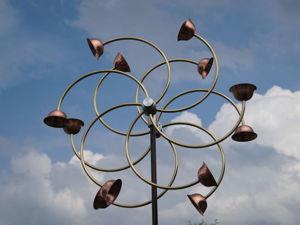 «Цинния»  большая ветряная кинетическая скульптура. Ярмарка Мастеров - ручная работа, handmade.