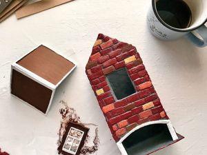 Переделываем чайную коробку в чайный домик. Ярмарка Мастеров - ручная работа, handmade.