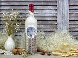 Видео мастер-класс: декупаж бутылки в ретро стиле. Ярмарка Мастеров - ручная работа, handmade.