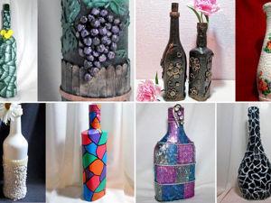 20 идей декора бутылок: видео мастер-класс. Ярмарка Мастеров - ручная работа, handmade.