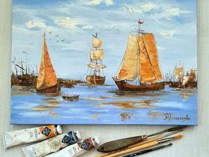 Море,лодки,парус. Ярмарка Мастеров - ручная работа, handmade.
