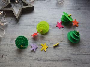 Как сделать новогоднюю гирлянду из фетра и пластилина. Ярмарка Мастеров - ручная работа, handmade.