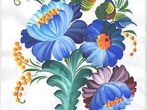 Видео мастер-класс: рисуем цветы в технике Петриковской росписи. Ярмарка Мастеров - ручная работа, handmade.