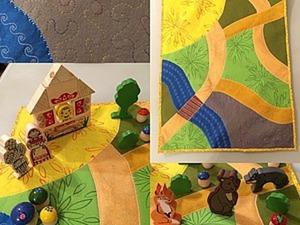 Развивающий детский коврик «Аленушкины сказки» из фетра. Ярмарка Мастеров - ручная работа, handmade.