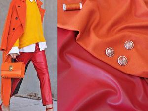 Пальтовая ткань из виргинской шерсти и кашемира и экокожа. Ярмарка Мастеров - ручная работа, handmade.