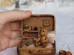 ЧемоДомик деревянный с мишкой. Ярмарка Мастеров - ручная работа, handmade.
